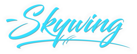 SkywingKnights Logo Short Sign Blue
