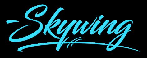 SkywingKnights Logo Short Sign Blue