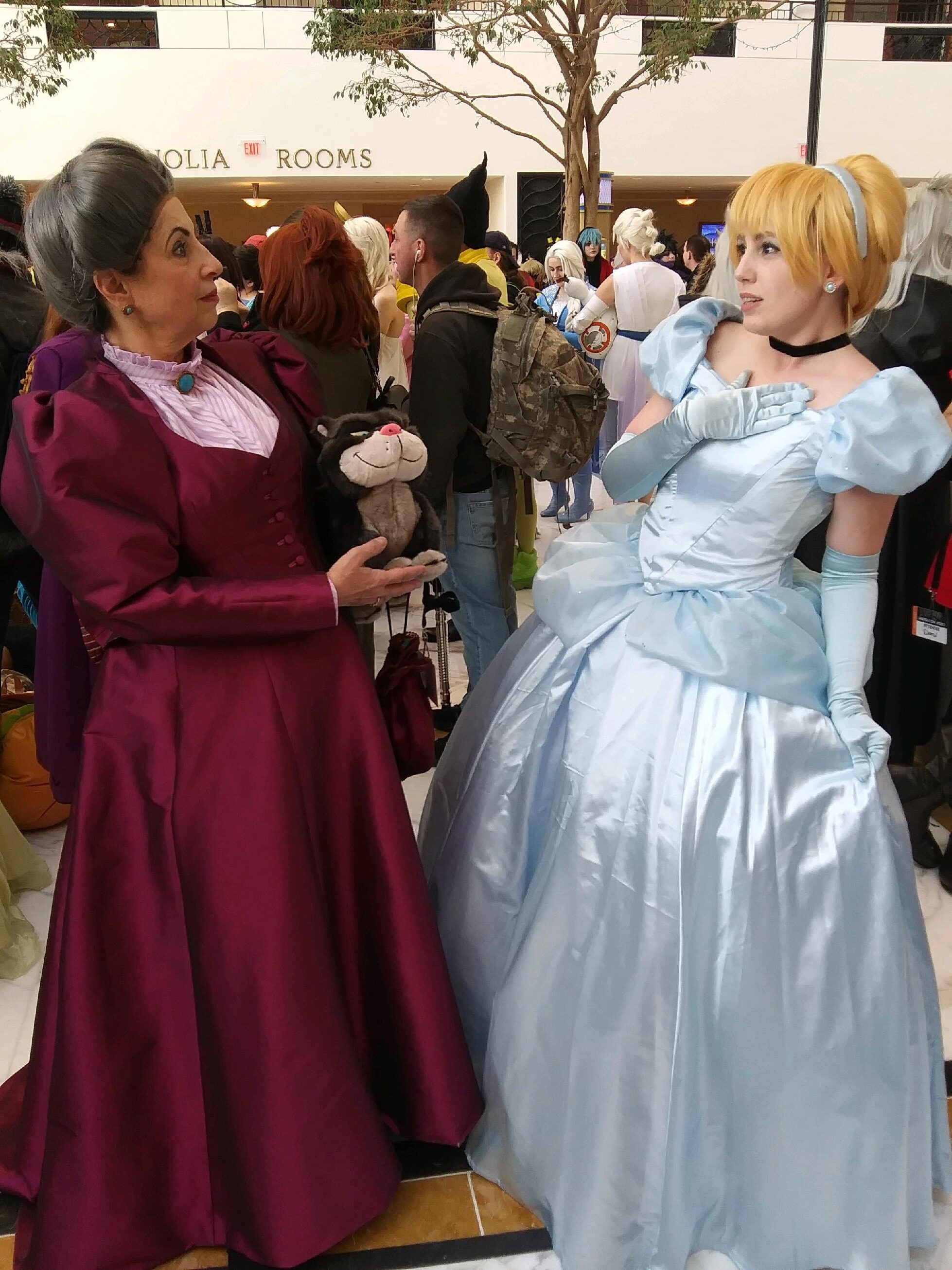 Cinderella Cosplay and Her Step Mother