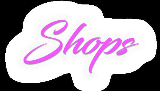 Shops purple white glow